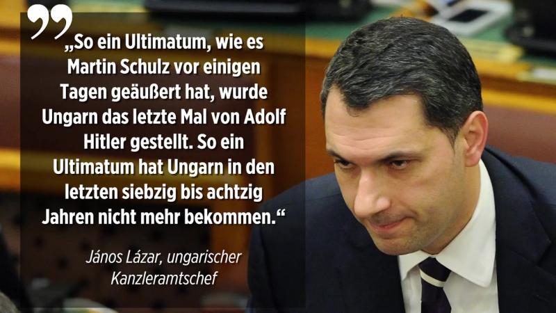 Vereinigte Staaten von Europa- Orbáns Kanzleramtschef vergleicht Martin Schulz mit Adolf Hitler
