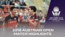 Fan Zhendong/Wang Chuqin vs Lee Sangsu/Jeoung Youngsik | 2018 ITTF Austrian Open Highlights (1/4)
