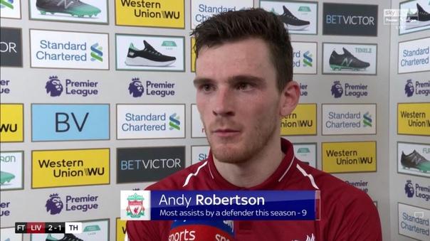 """Robertson: """"Uch ochko uchun oxirigacha kurashdik"""" - liverpul.uz"""