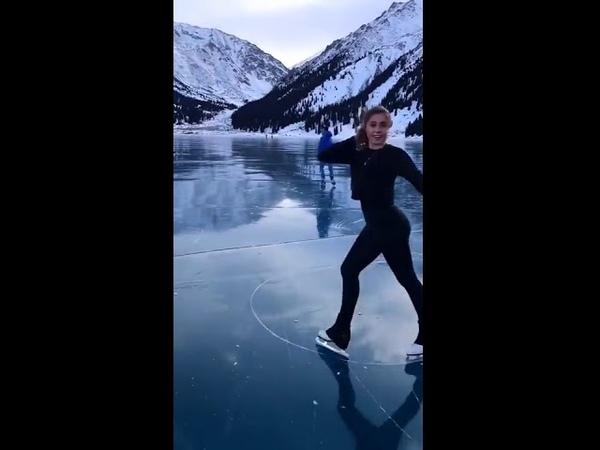 Девушку которая каталась на коньках на БАО вызвали в полицию