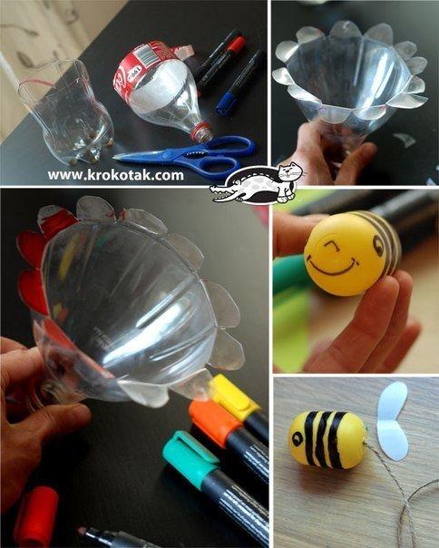 Как сделать игрушку из пластиковый бутылки