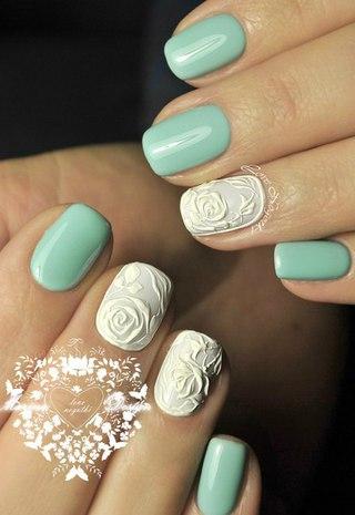 Идеи для маникюра нарощенных ногтей фото