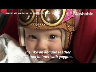 Художница превращает медицинские шлемы младенцев в произведения искусства