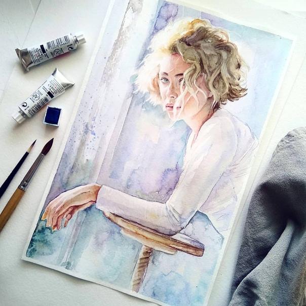 Акварельные портреты Автор: Deina Sasha