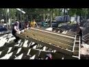 Монтаж щитов деревянного каркаса дома.MP4