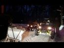 Night riding on ATV UTV in the forest