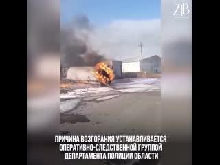 На АЗС в Атырау произошел мощный взрыв