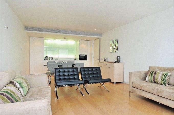 Кухня-гостиная в квартире 80 м в Лондоне - http://kvartirastudio.