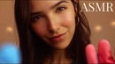 ASMR Tapping on YOU Nails Sponges Gloves Tools Closeup Whispering