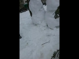 лепим снеговвика