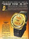 Ретро-реклама часов, которые уже не купить, а так хотелось…