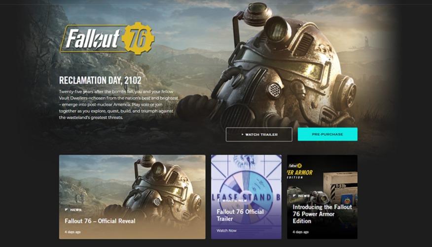 Fallout76 может не появится в Steam