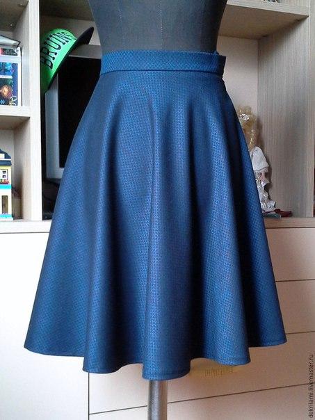Шьем юбку-полусолнце. Мастер-класс (9 фото)