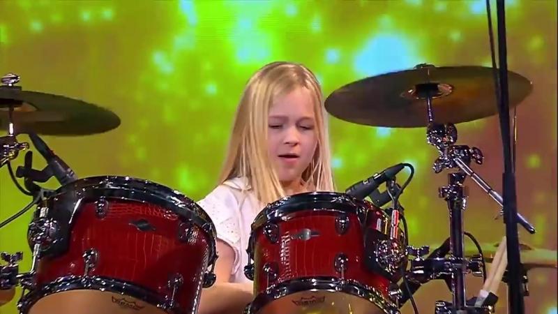 10 Year Old Drummer Johanne Astrid - Winner Of Denmarks Got Talent 2017 Compilation