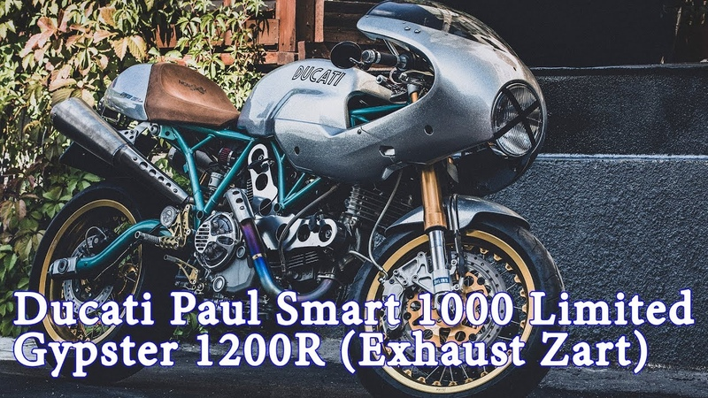 Ducati Paul Smart 1000 Limited (Gypster 1200R). Exhaust Zart (NCR). High Quality Sound Record.