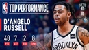 D'Angelo Russell Ties a CAREER-HIGH With 40 Points | January 18, 2019 NBANews NBA Nets