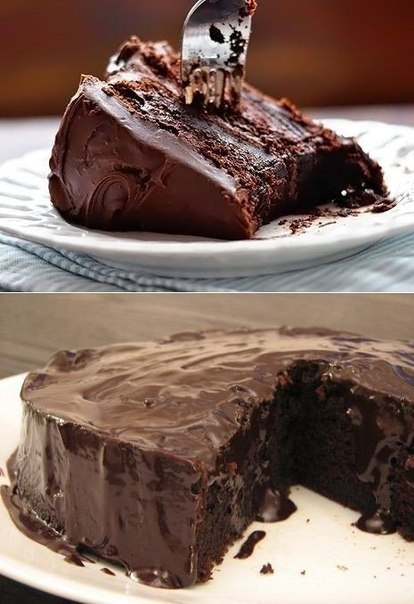 «Супервлажный шоколадный пирог без яиц»