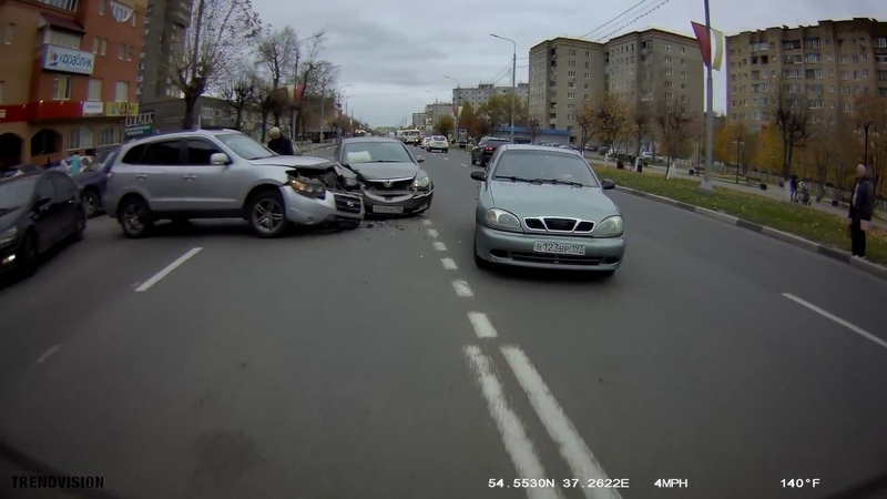 Авария в Серпухове 21.10.2018 в 13.30