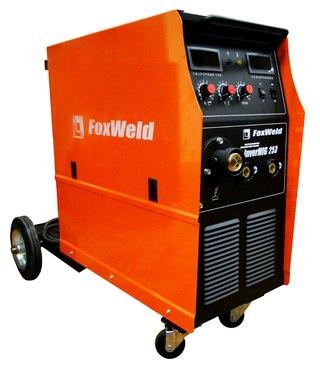 Сварочный полуавтомат Foxweld INVERMIG 253.  Напряжение питающей сети 380 В +/- 10%.  Потребляемая мощность 12,6 кВА.