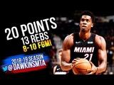 Hassan Whiteside Full Highlights 2018.09.30 Heat vs Spurs - 20-13! FreeDawkins