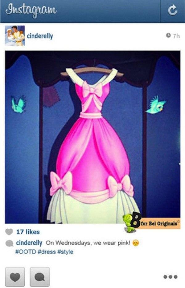 Диснеевские принцессы в инстаграме