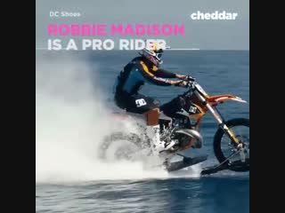 Ride the waves... on a dirt bike.
