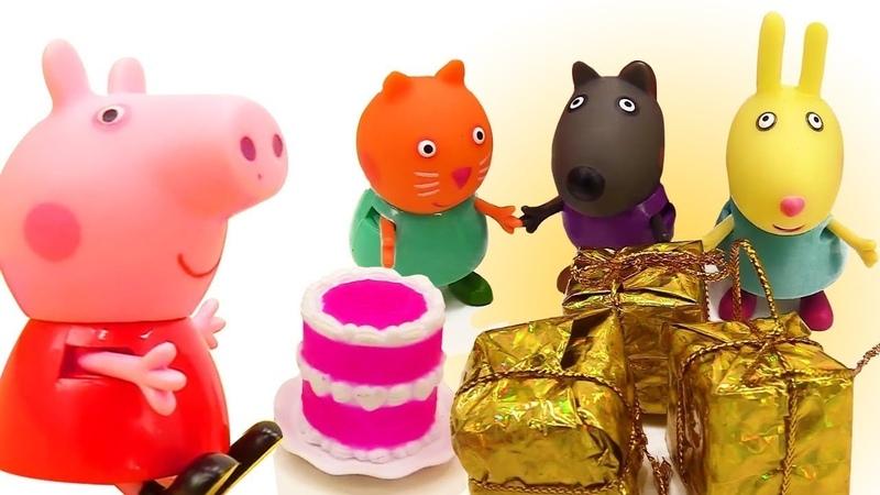 4 Kinder Videos am Stück mit Peppa Wutz Spielzeug.