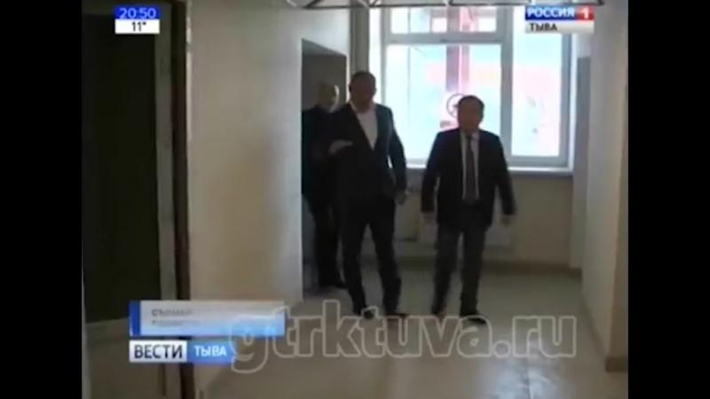 Глава Тувы происпектировал строительство терапевтического корпуса