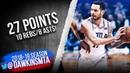 JJ Redick Full Highlights 2019.03.19 76ers vs Hornets - 27 Pts, 10 Rebs, 8 Asts! | FreeDawkins