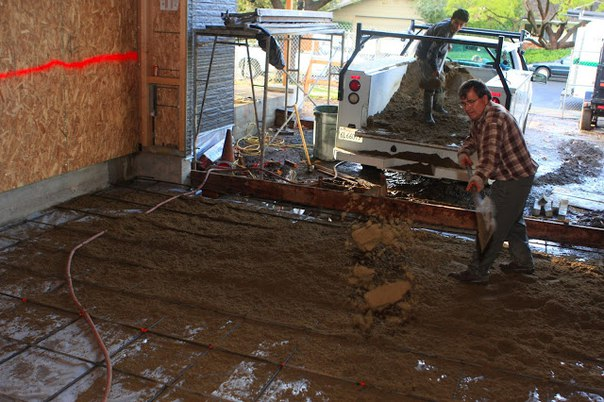 бетонирование пола в гараже своими руками