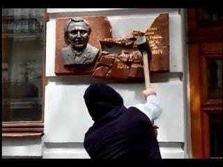 Вандалы разбили памятник В.В. Щербицкому в Одессе 16 Июня 2014