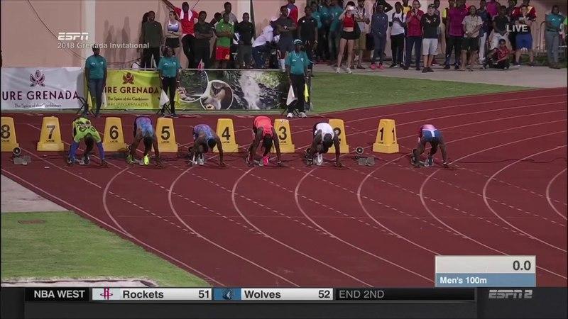 Justin Gatlin 100m - Grenada Invitational