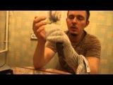 Перчатки варежки вязаные Badger