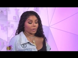 Lil' Kim answers fans questions on MTV TRL