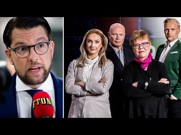 Jimmie Åkesson gäst i Aftonbladets politikshow 2018 BRA
