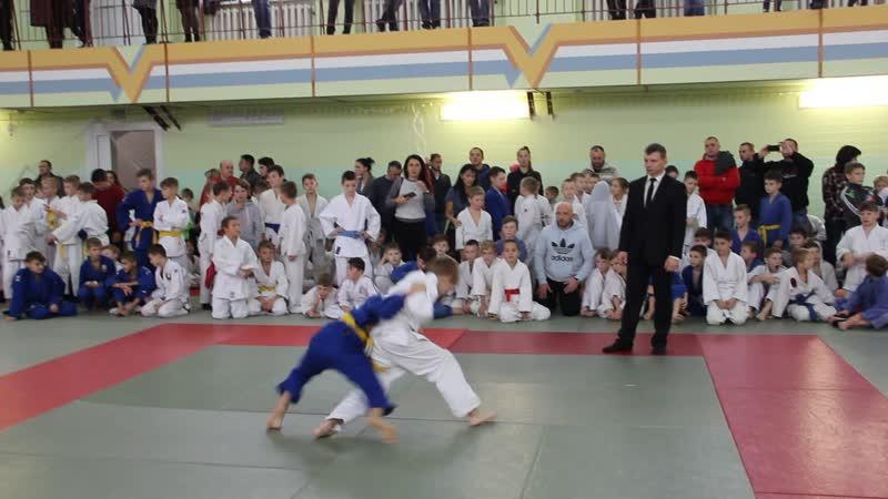 Андрей Гринкевич на турнире по дзюдо в Чечерске 24.11.18.