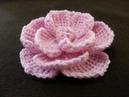 Rosa tejida en Crochet Tutorial