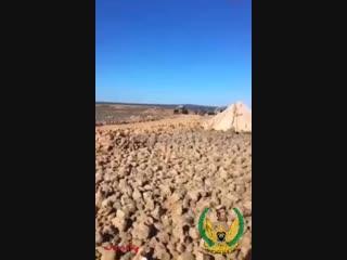 دبابات الجيش السوري تقصف مناطق سيطرة داعش في مشارف الصفا شرق السويداء