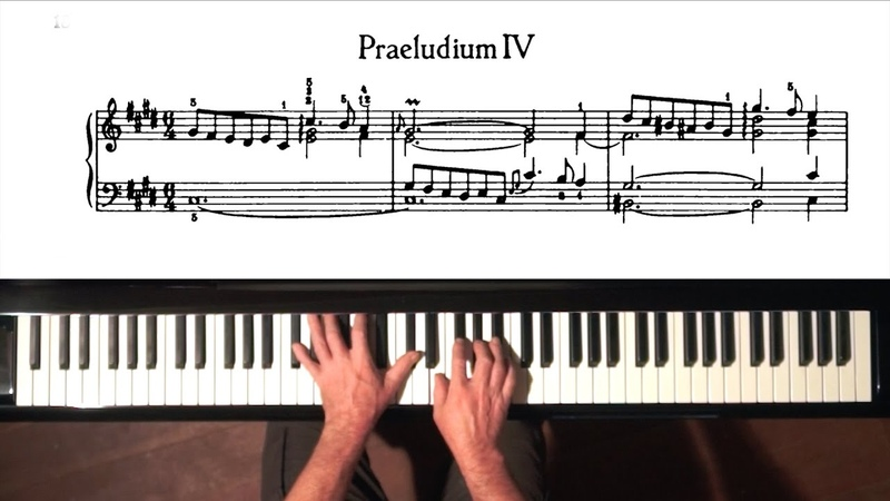 Bach Prelude and Fugue No.4 Well Tempered Clavier, Book 1 with Harmonic Pedal