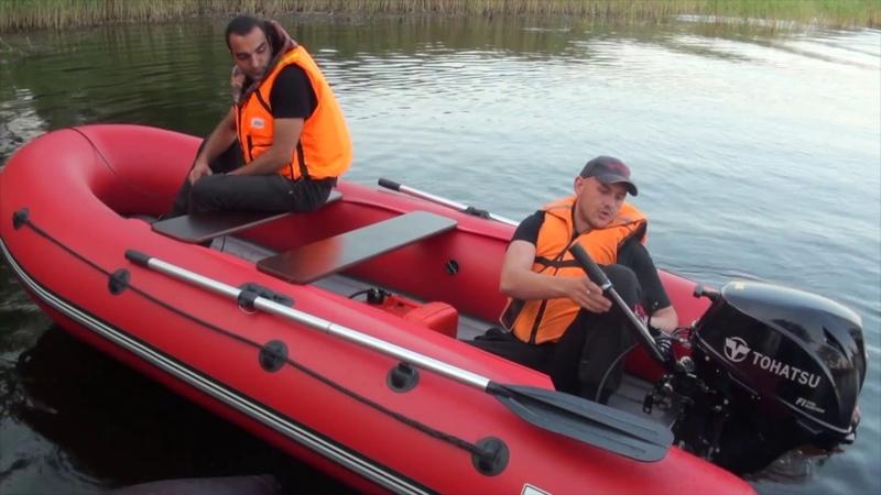 Тест инжекторного Тохатсу 9.9 на лодке Гидра 380 Nova
