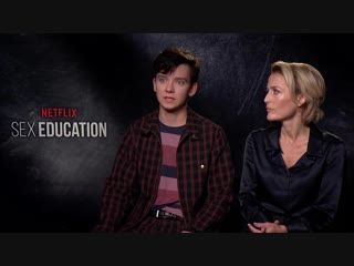 Gillian Anderson and Asa Butterfield -