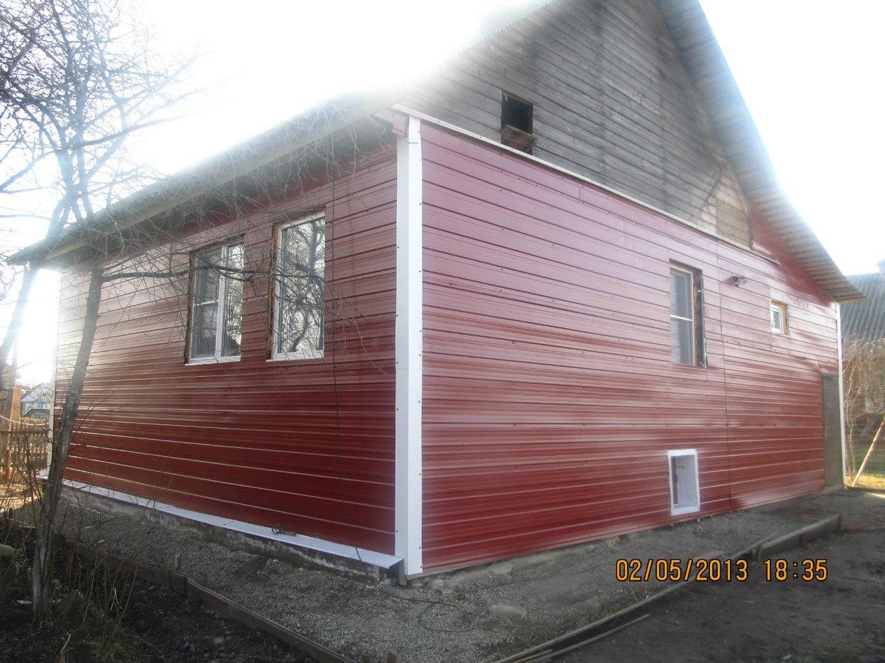 Обшить дом металлопрофилем своими руками фото 32