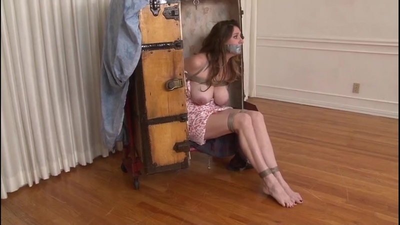Bound and gagged in a trunk