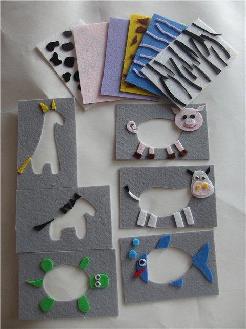 Игры для детей из фетра