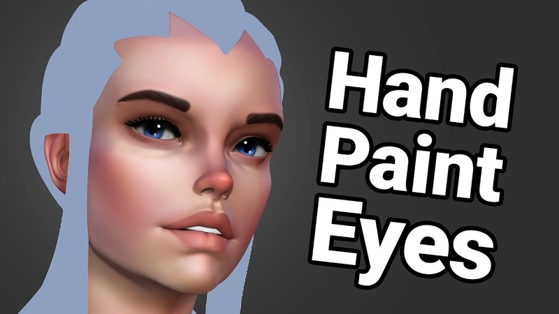 How To Hand Paint Eyes In ZBrush