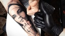 Tattoo Timelapse Black and Gray Portrait