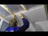 Монтаж панелей ПВХ на потолок ванной комнаты