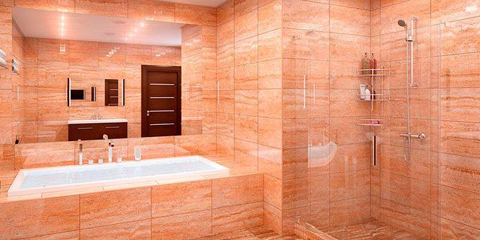 Различные типы плитки для ванной комнаты