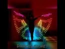 Пиксельные крылья высокой плотности с новогодними эффектами