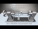 Strength of Materials VirtLab Determination of the Critical Load for a Flexible Compressed Rod